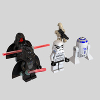 3d darth minifigure star wars model