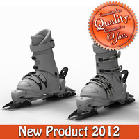 Down Hill Ski Boots with Binder