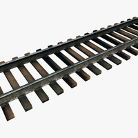 3ds max modular railroad track