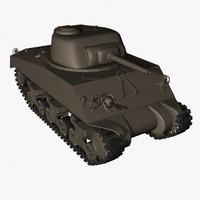 sherman tank 3d model