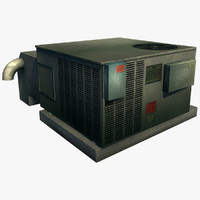 roof air unit 3d max
