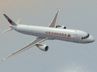 airbus a321 air canada 3d 3ds