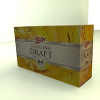 Beer Box Miller Light Genuine Draft