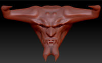 3d head sculptured model