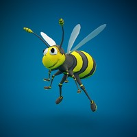 bee rigged 3d c4d