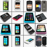 3d cellphones set htc