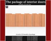 3d package classic interior doors
