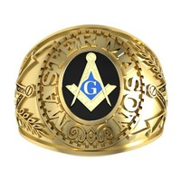 masonic ring 3d 3ds