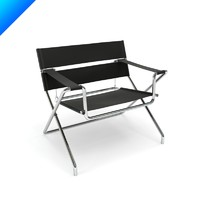 3d marcel breuer folding chair