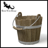 Old wood bucket