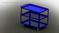 shelf cart 3d model