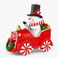 maya snow man snowman