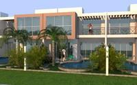 3d row housing model