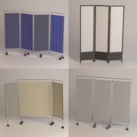 folding screens 3d model