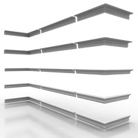 3d model decorate cornice