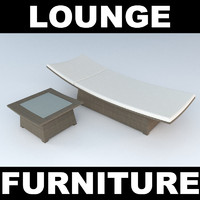 Outdoor Lounger and Sidetable