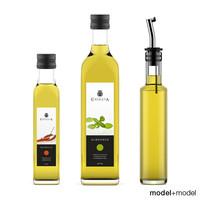 bottles oil 3d max