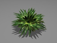 potted plants series 02 3d model