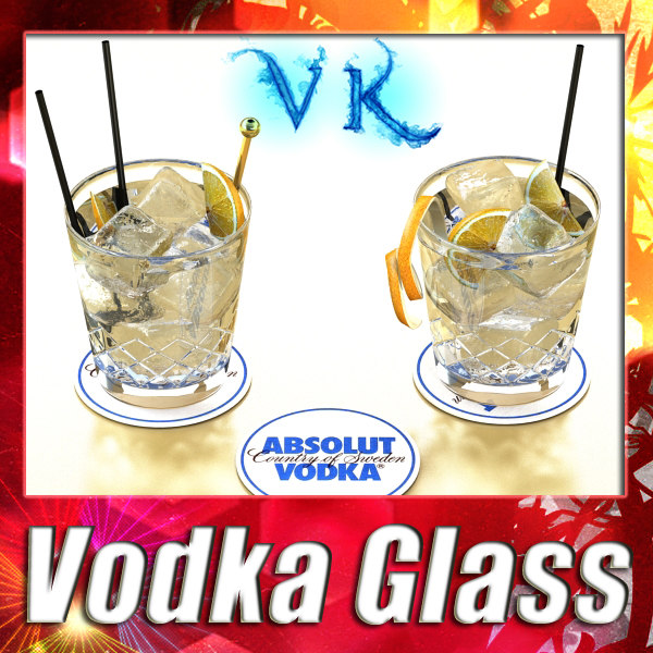 Vodka Absolut Glass