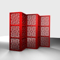 3d model islamic folding screen