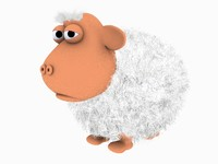 sheep animation 3d model