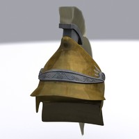 3d model greek helmet phrygian