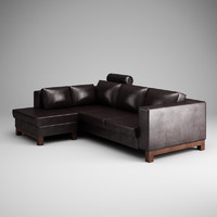CGAxis Dark Leather Sofa 15