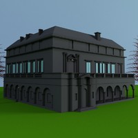 3d house florentine style old