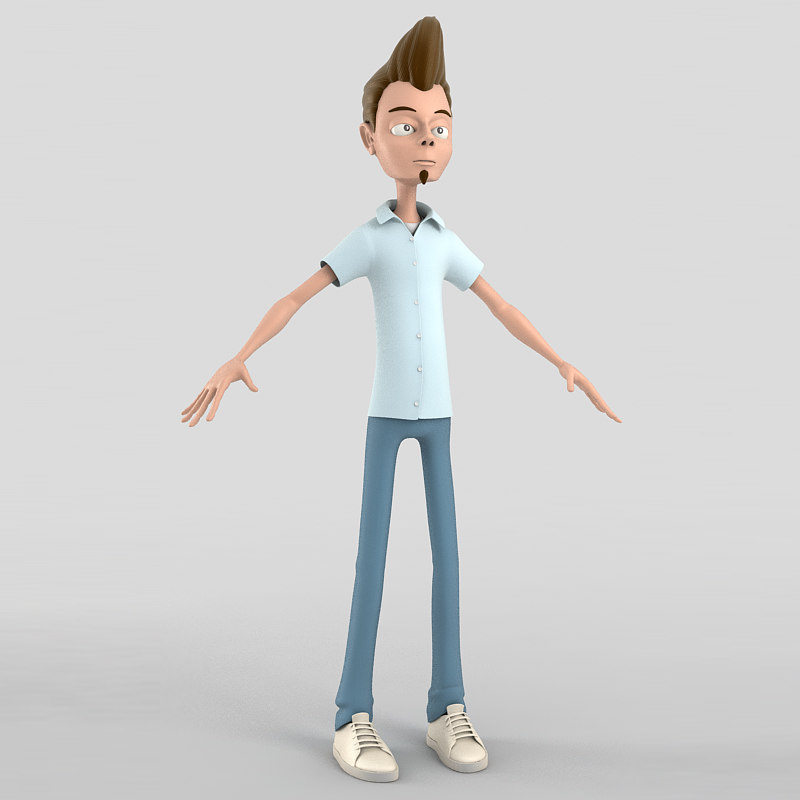 Cartoon Teenager Obj