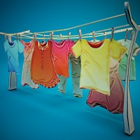 3ds max colorful clothes