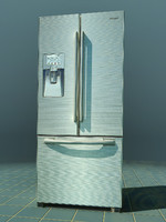 3d refrigerator fridge model
