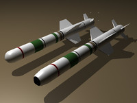 3d harpoon missiles model