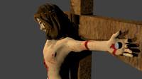 jesus cross 3d blend