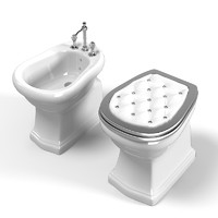 Lineatre Classic Toilet 21304 and Bidet