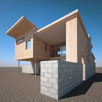 maya realistic modern house v5