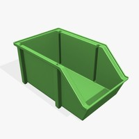 Stacking Plastic Parts Bin 14x8in