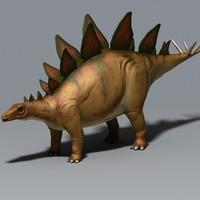 herbivore stegosaurus 3d max