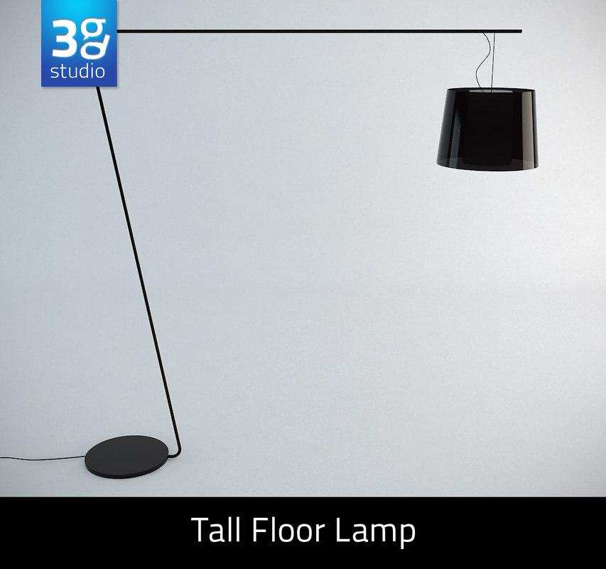 Tall floor lamp max for 7 foot tall floor lamp