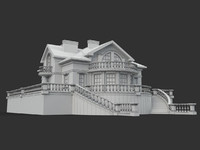 3ds max building villa