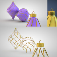 christmas decoration 3d c4d