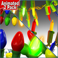 Christmas Lights 2 PACK (both ANIMATED)