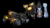 3d model cyborg arm