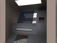 3d model atm kiosk cash