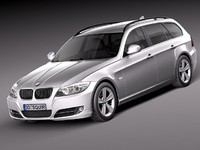 bmw e91 estate 2006 c4d
