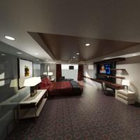 hotel room 3d max