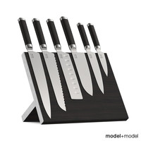 Knives set with stand and wall holders