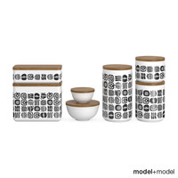3d kitchen storage boxes model