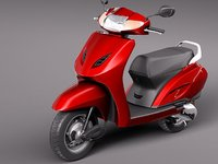 honda activa 2012 scooter 3d 3ds