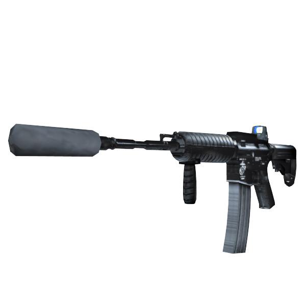 3d Model Of Custom Colt M4 Assault Rifle