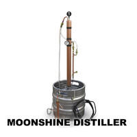 moonshine distiller 3d model